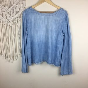Anthropologie Tops - Anthro • Cloth and Stone Chambray Top